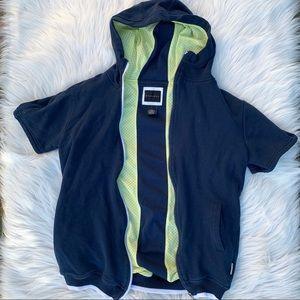 Short Sleeve Hooded Jacket